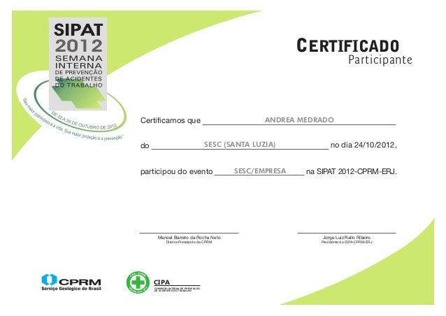 SIPAT2012                                                               CERTIFICADO                                       ...