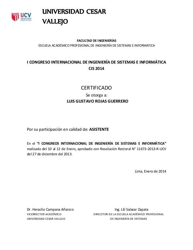 FACULTAD DE INGENIERÍAS ESCUELA ACADÉMICO PROFESIONAL DE INGENIERÍA DE SISTEMAS E INFORMATICA I CONGRESO INTERNACIONAL DE ...