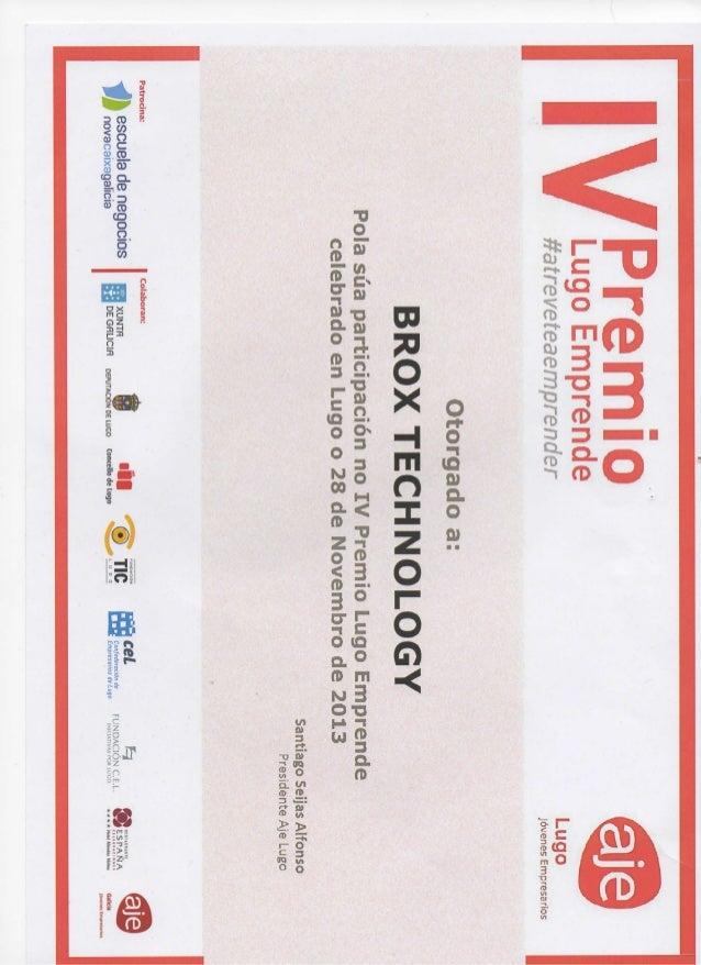 Certificado premios aje lugo 2013