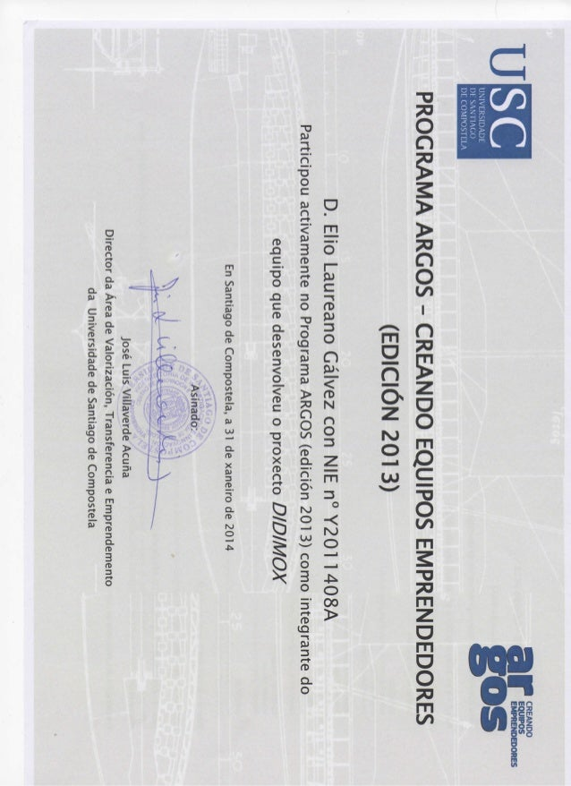 Certificado programa universitario de emprendimieto