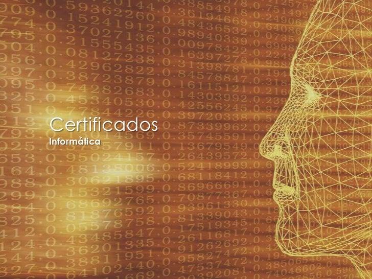 CertificadosInformática