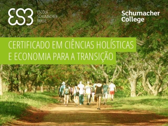 CERTIFICADO EM CIÊNCIAS HOLÍSTICAS E ECONOMIA PARA A TRANSIÇÃO