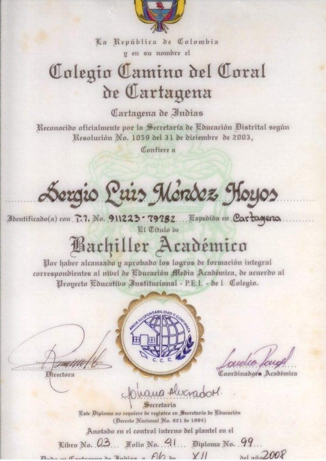 Certificados Ingeniero Ambiental Sergio Mendez Hoyos Slide 2