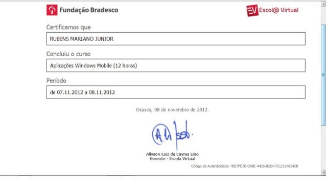 Certificado   Windows Mobile