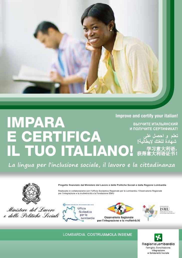 Improve and certify your italian!Impara                                                                                   ...