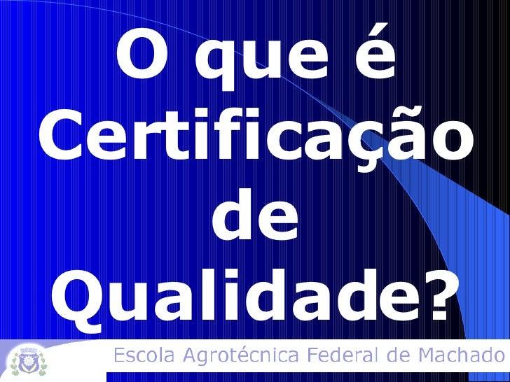 Certificação Socioambiental Slide 2