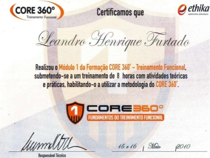 Certificação core 360 treinamento funcional