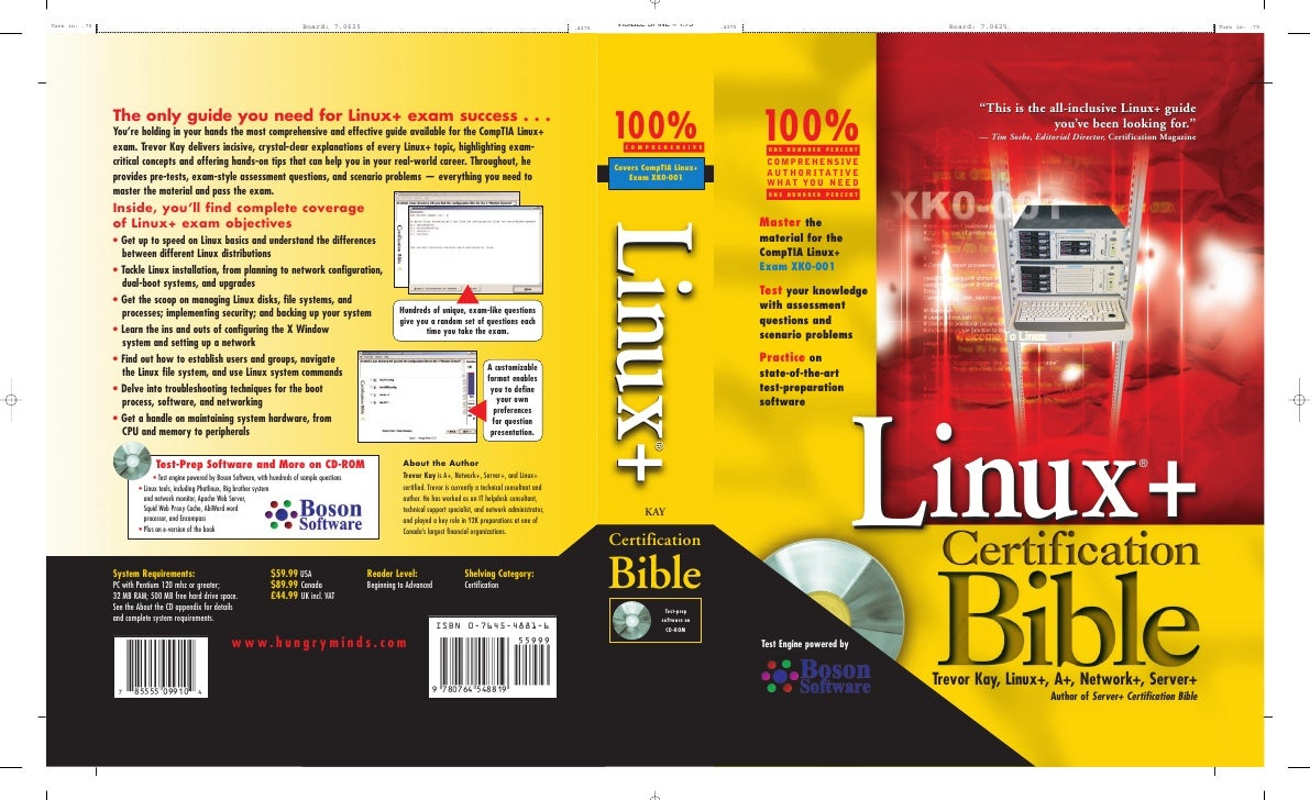 """""""This is the all-inclusive Linux+ guide100% ONE HUNDRED PERCENT                                               you've been ..."""