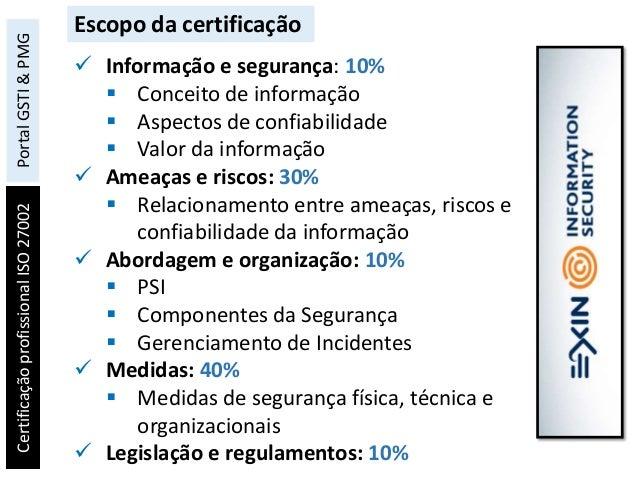 Certificação profissional ISO 27002 Foundation 23fc76bf56