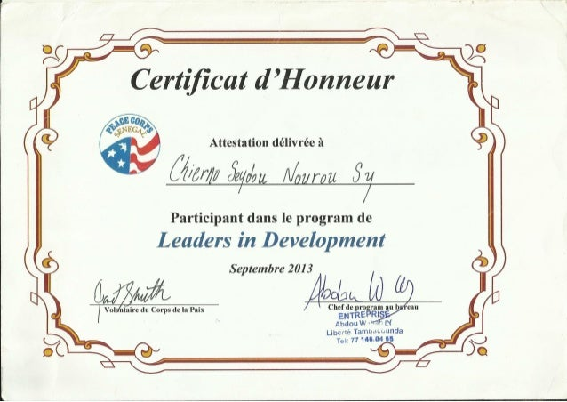 Certificate of honor certificate of honor 3 attestation dlivre 2 3 6 zw aurgz yadclub Gallery