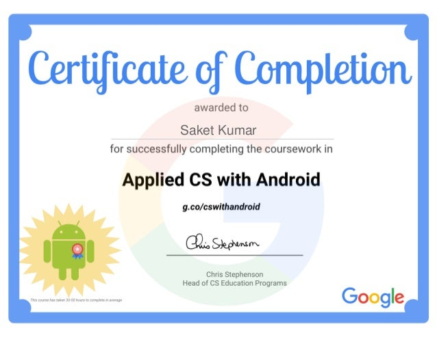 Applied Computer Science with Android