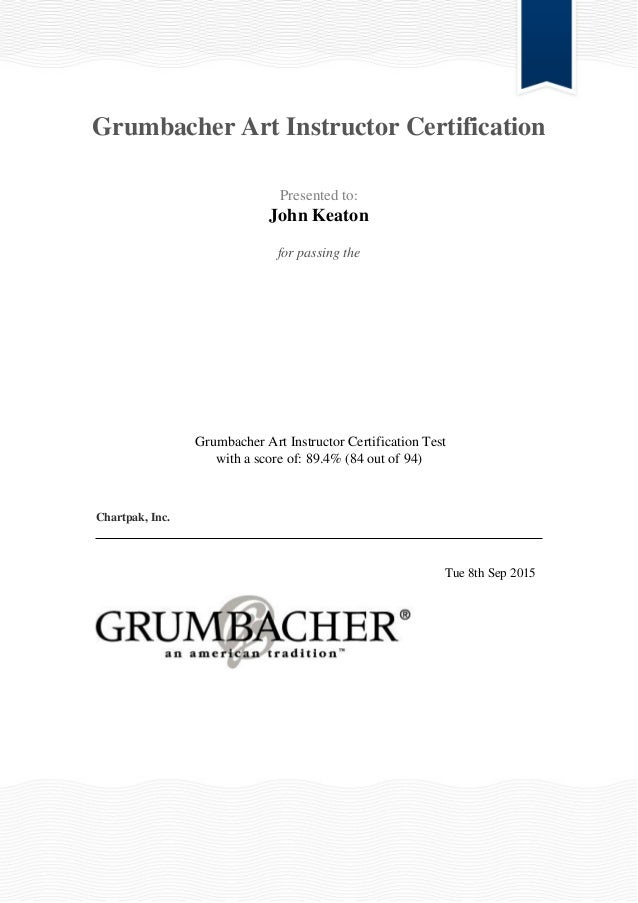 Formal Certification as an Art Instrtuctor