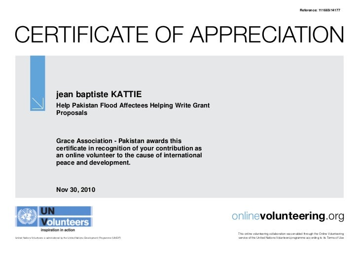 Online voluteering for un certificate online voluteering for un certificate reference 11166914177certificate of appreciation yelopaper Choice Image