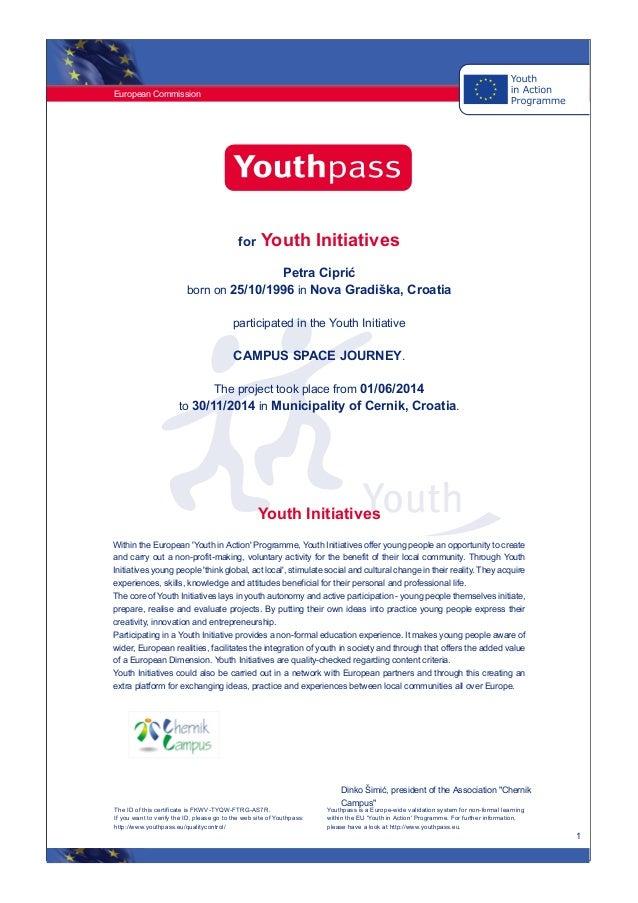 Youthpass certifikat