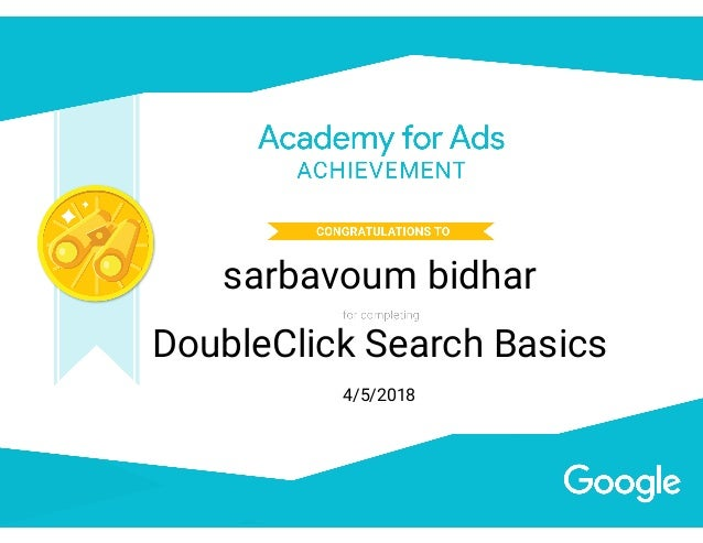DoubleClick Search basics Certification