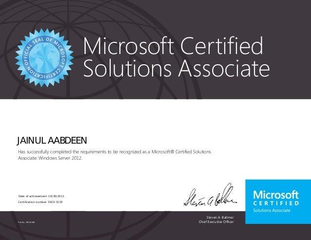 microsoft certificates