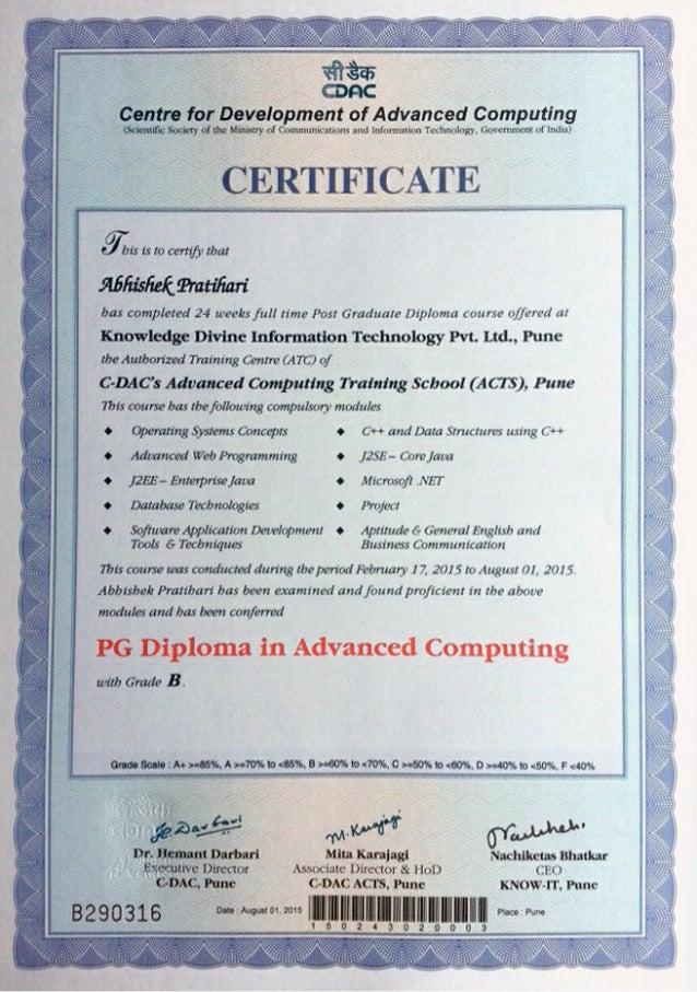 Certificate Cdac