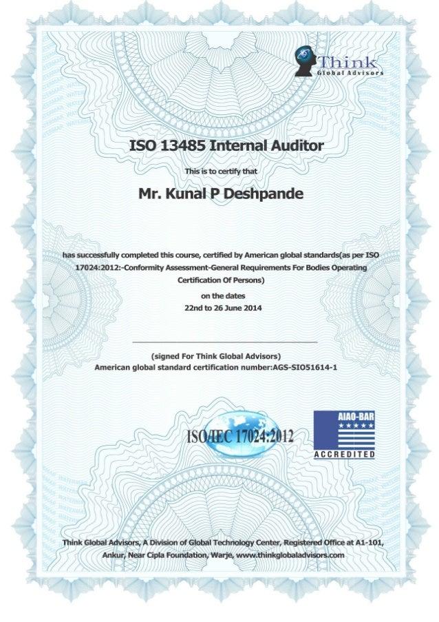 Certificate copy