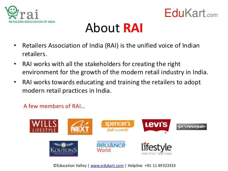 Certificate Course in Retail management (Certified by RAI)