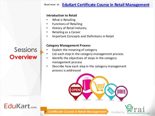 Certificate Course in Retail Management (Certified by RAI)- with FDI …