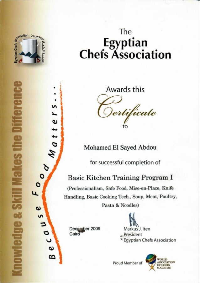 for basic kitchen training