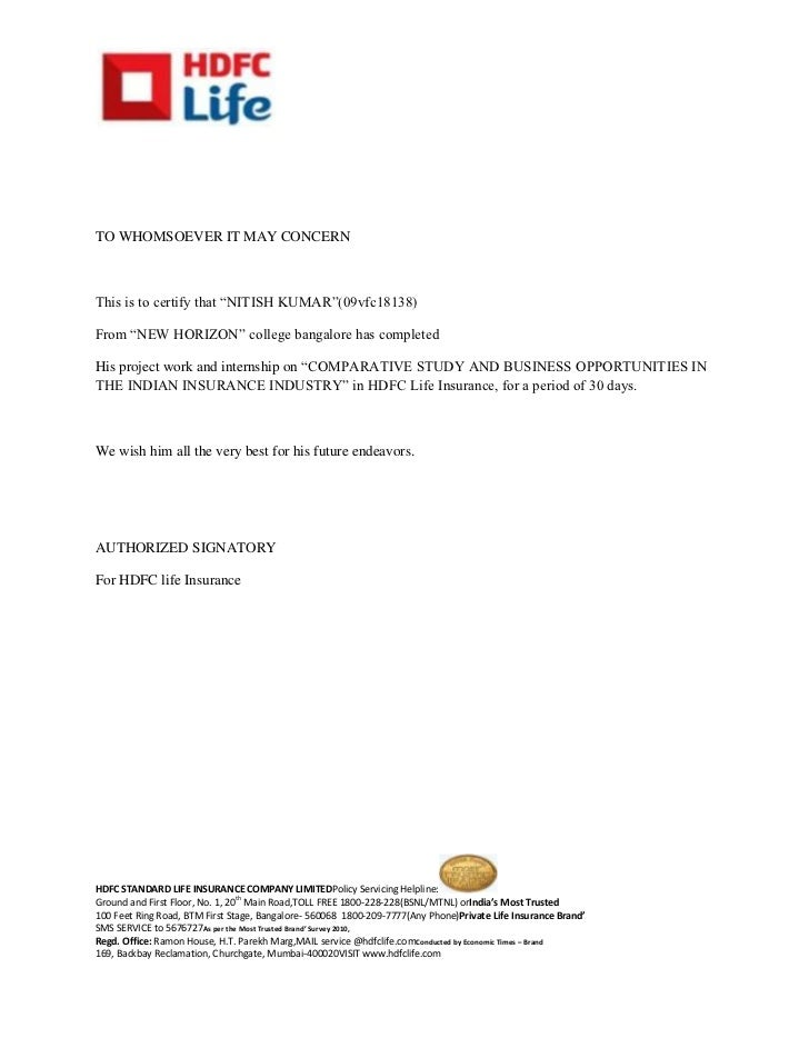 certificate-hdfc-1-728 Template Cover Letter Law Firm Summer Internship Certificate Zpxowr on