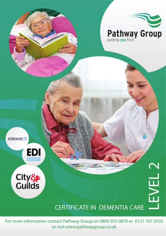 Certificate in Dementia Care Level 2 Who is the course for? The EDI Level 2Certificate in Dementia Care has been developed...