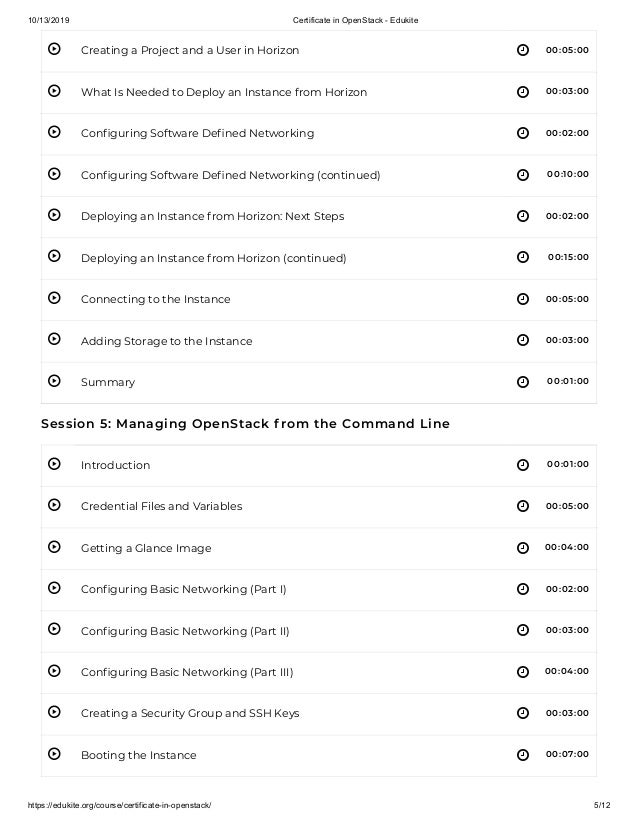 10/13/2019 Certificate in OpenStack - Edukite https://edukite.org/course/certificate-in-openstack/ 5/12          ...