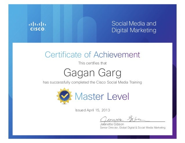 Cisco Social Media Master Level Certification