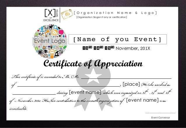 Certificate of appreciation (Editable format)