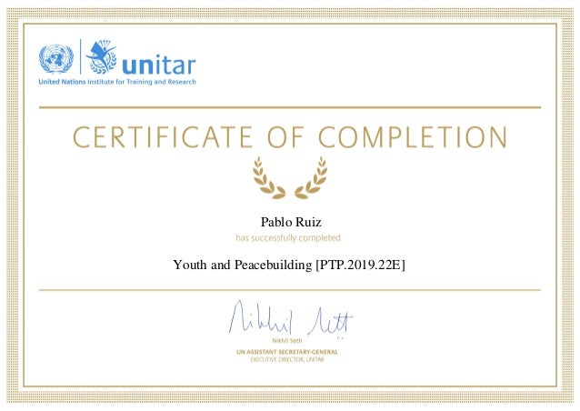 Youth and Peacebuilding - Pablo Ruiz Amo