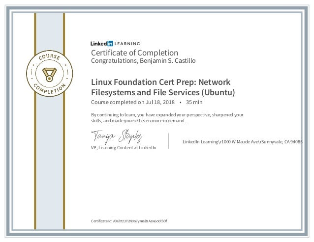 Linux Foundation Network Filesystems And File Services Ubuntu Cert