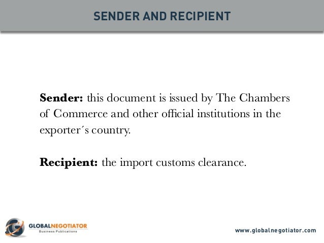 CERTIFICATE OF ORIGIN Form and User Guide – Blank Certificate of Origin Form