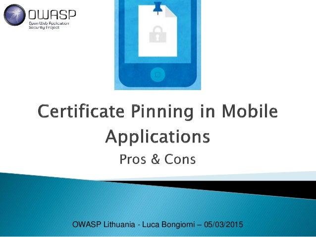 OWASP Lithuania - Luca Bongiorni – 05/03/2015