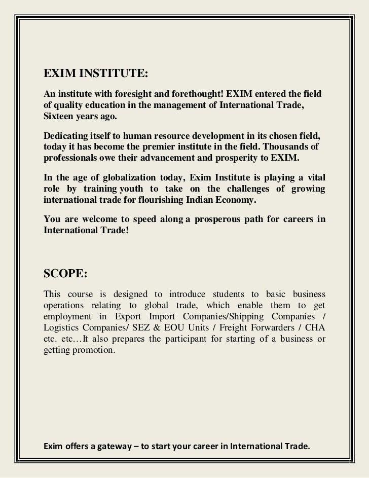 Import Export Course Certificate In Aurangabad Acpit