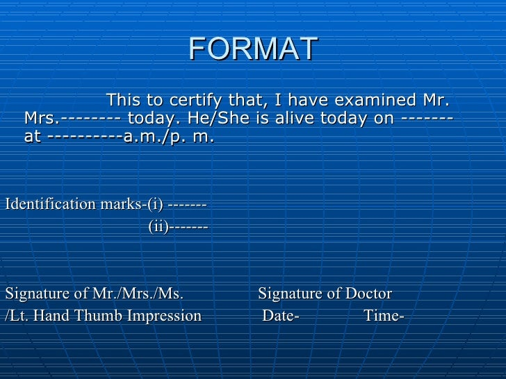 Doctor dating format