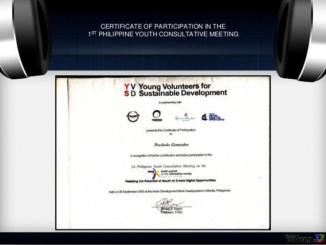 certificates of pocholo gonzales