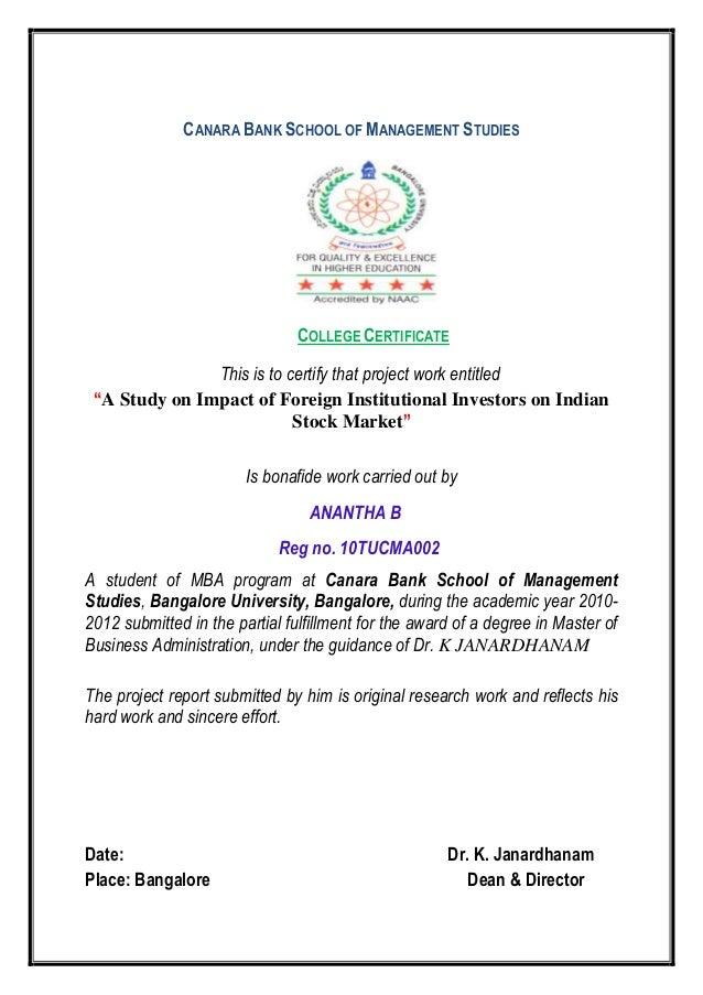 Banglore mba notes