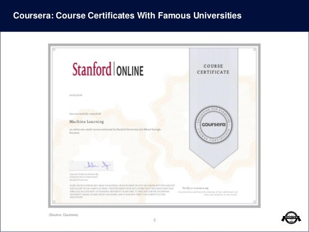 Certificates for online courses