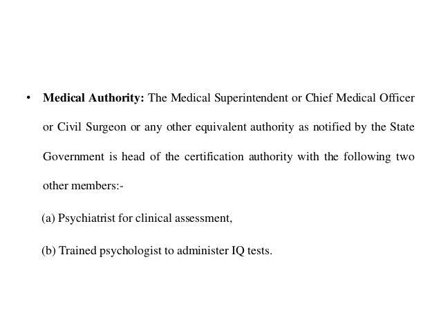Certification in psychiatry