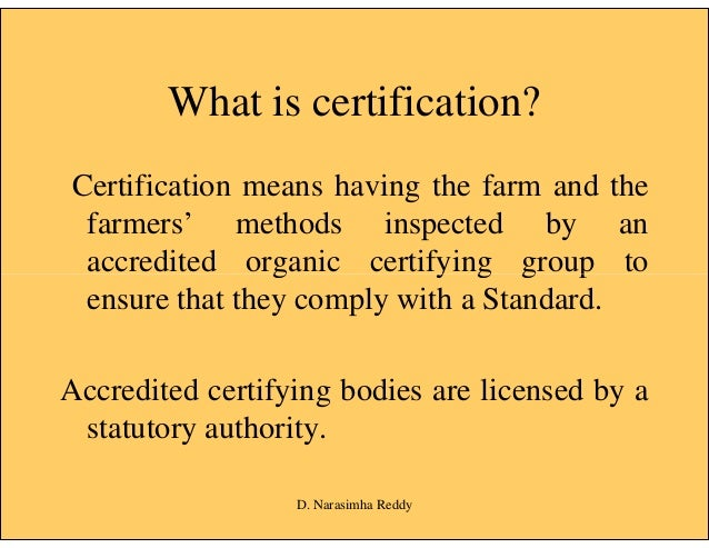 Certification of Organic Products [compatibility mode]