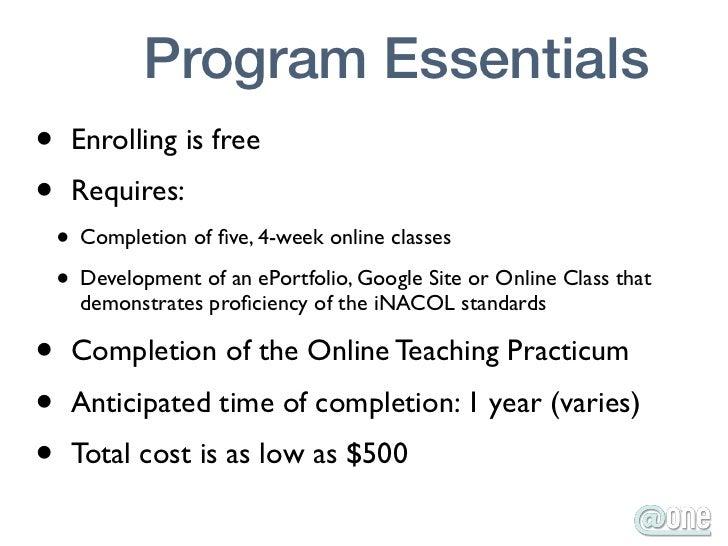 One Online Teaching Certification Program