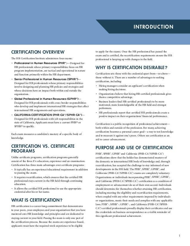 Certification Handbook Of Phrsphr