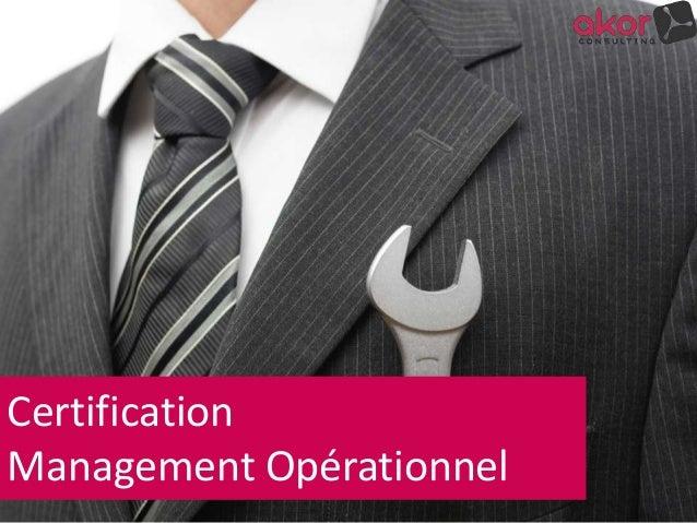 Certification Management Opérationnel