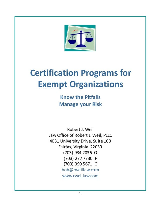 1 Robert J. Weil Law Office of Robert J. Weil, PLLC 4031 University Drive, Suite 100 Fairfax, Virginia 22030 (703) 934 203...