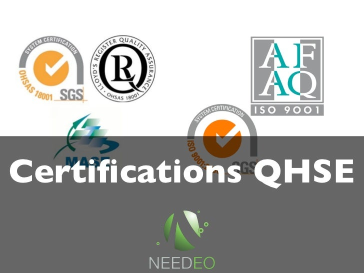 Certifications QHSE