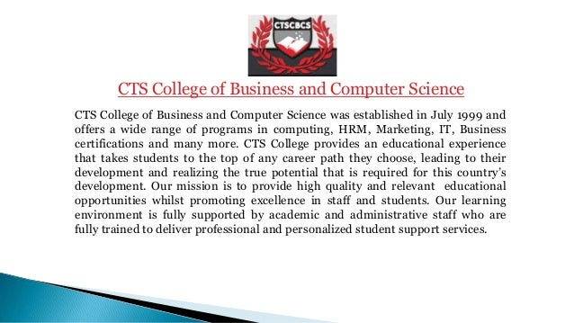 Certifications at CTS College