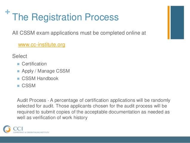 CSSM Certification