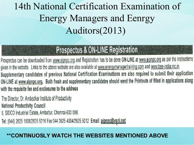 Certified Energy Auditor