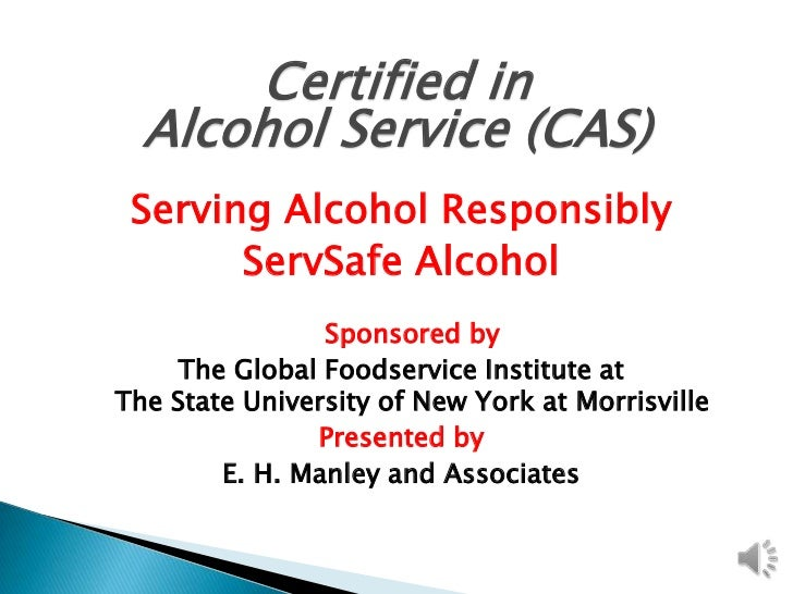 Certified in alcohol service lecture 1